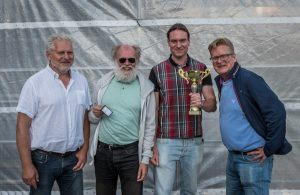 Tvåorna Kungstornet. Fr. v. Kaj Engström, Torbjörn Glimbrandt, Fredrik Andersson och Anders Larsson